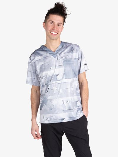 "Men's ""Duct Tape"" Scrub Top"
