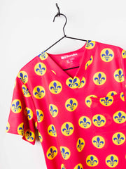 Series Six Saint Louis Apparel‎  Mens Scrub Top Retro Jersey Detail