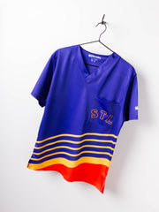 Series Six Saint Louis Apparel‎ Scrub Top Retro Jersey Chest Pocket
