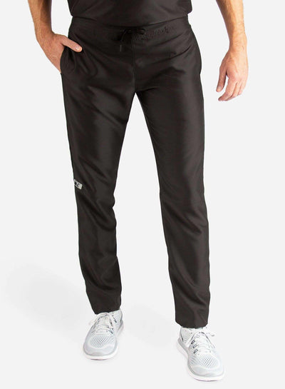 Men's Slim Fit Scrub Pants in Real black