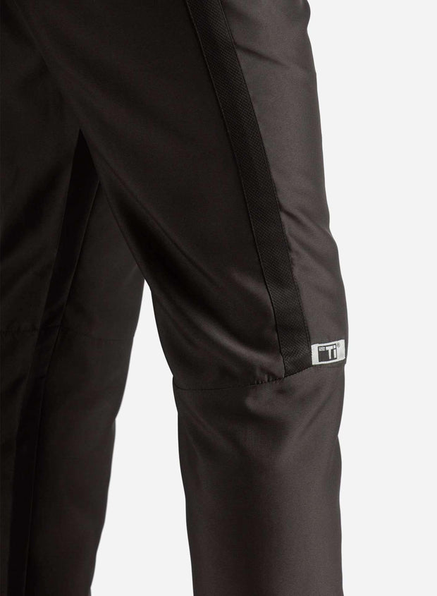 Men's Slim Fit Scrub Pants in Real Black Side View