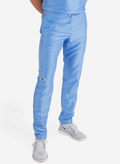 Men's Slim Fit Scrub Pants in  ceil-blue