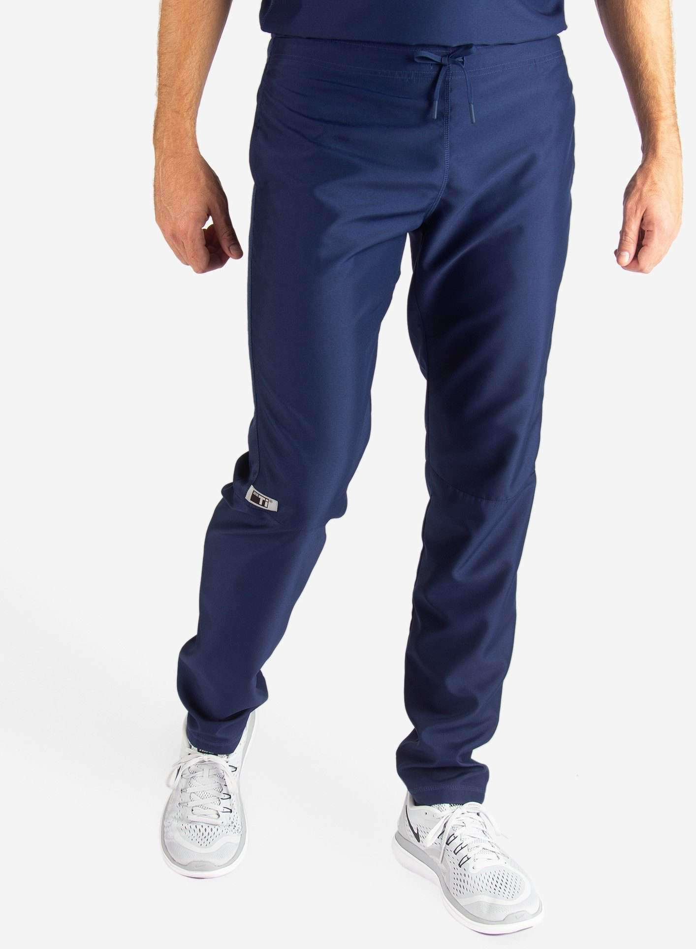 Men's Slim Fit Scrub Pants in Navy Blue