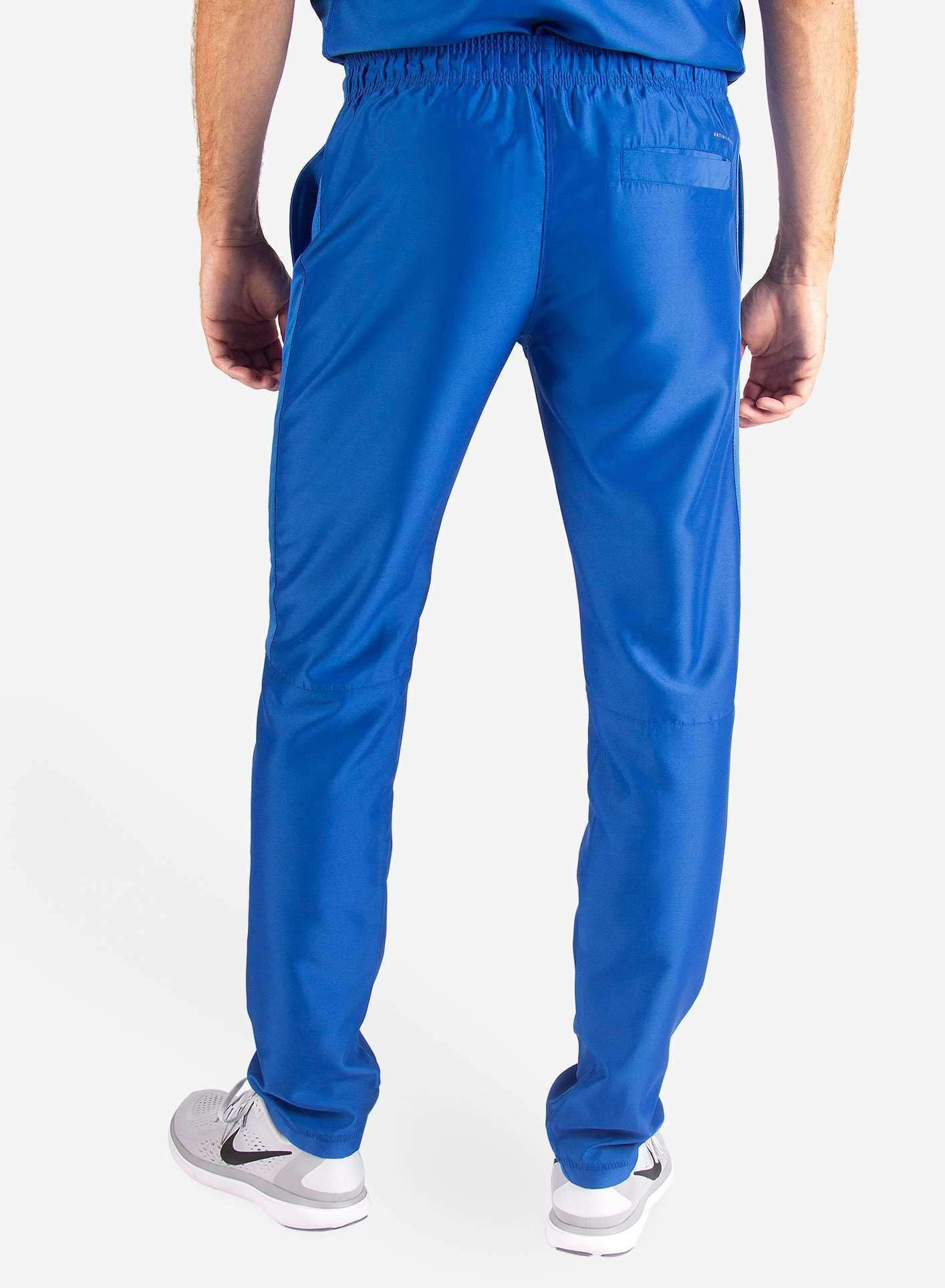 Men's Slim Fit Scrub Pants in Royal Blue back