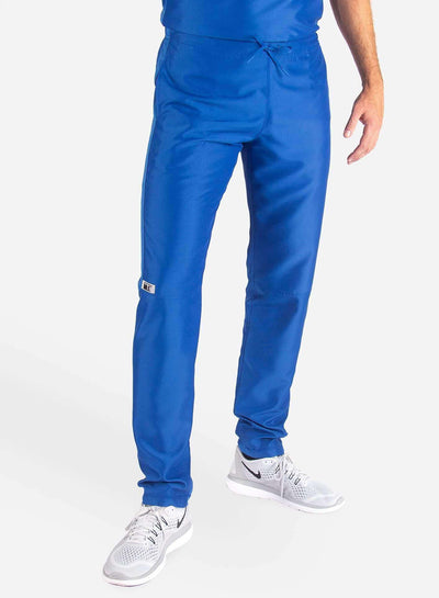 Men's Slim Fit Scrub Pants in royal-blue