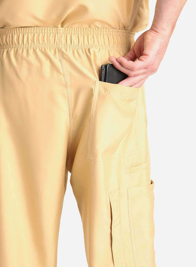 mens Elements cargo pocket relaxed fit scrub pants khaki