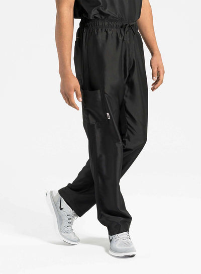 mens Elements cargo pocket relaxed fit scrub pants black