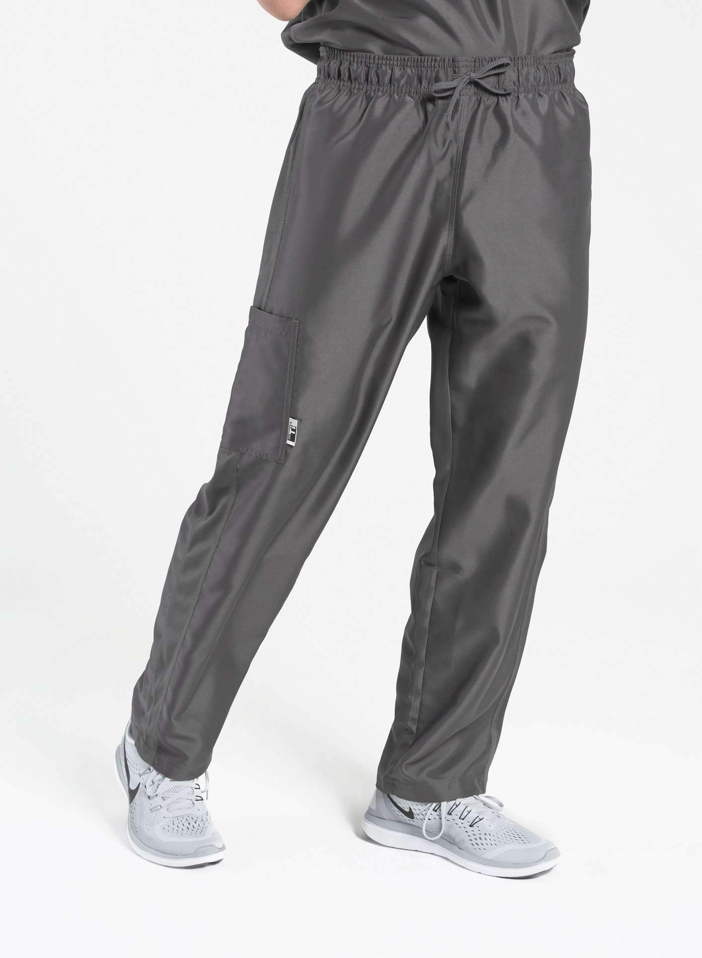 mens Elements cargo pocket relaxed fit scrub pants dark grey