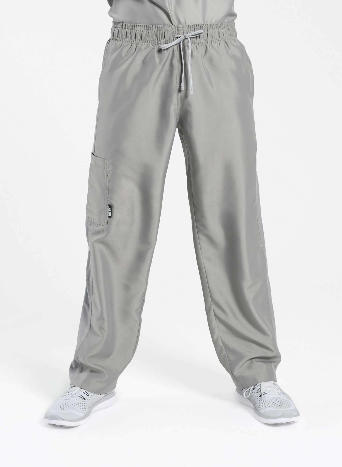 mens Elements cargo pocket relaxed fit scrub pants light grey