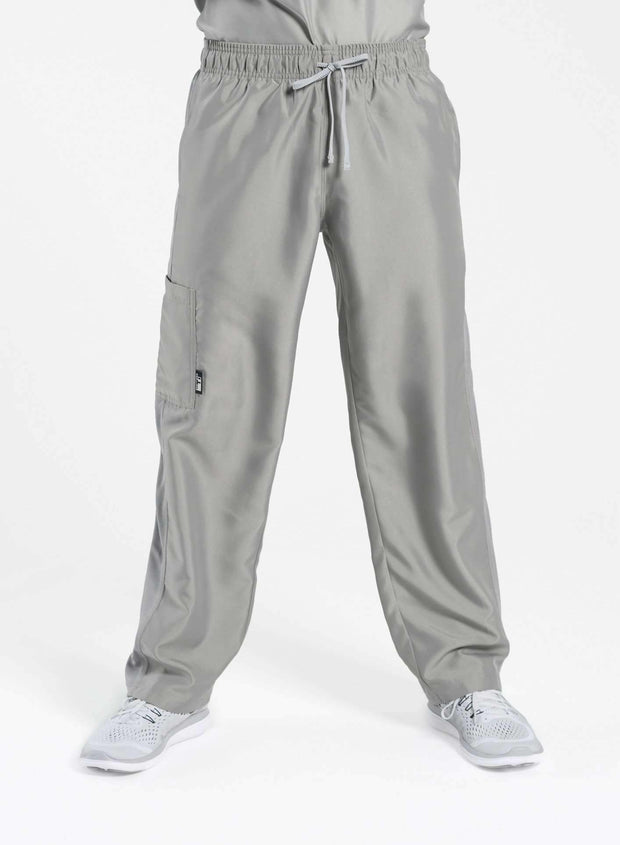 mens Elements cargo pocket relaxed fit scrub pants light gray