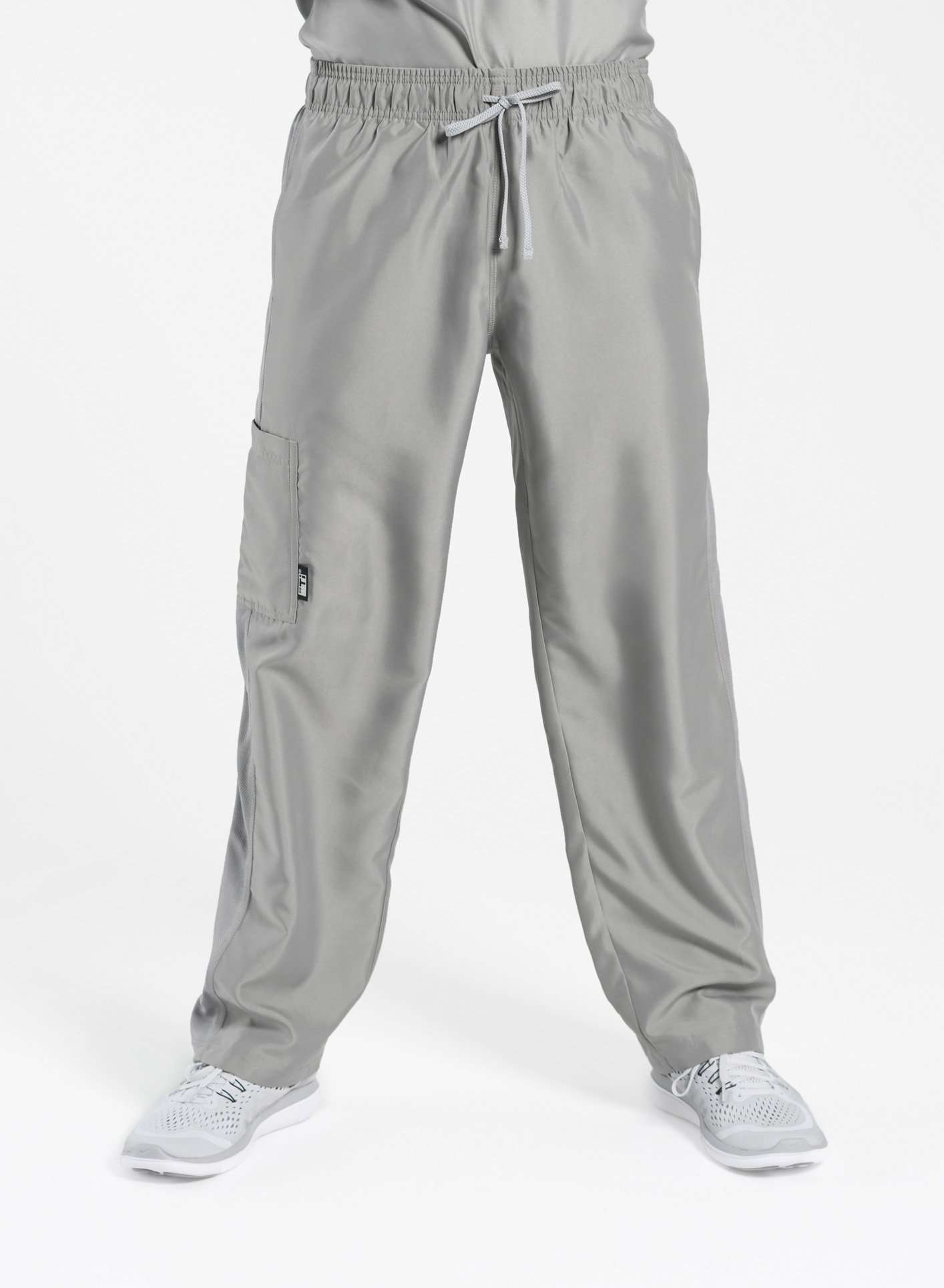 mens Elements short and tall relaxed fit scrub pants light grey
