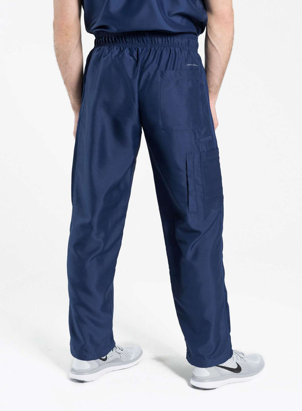mens Elements short and tall relaxed fit scrub pants navy-blue