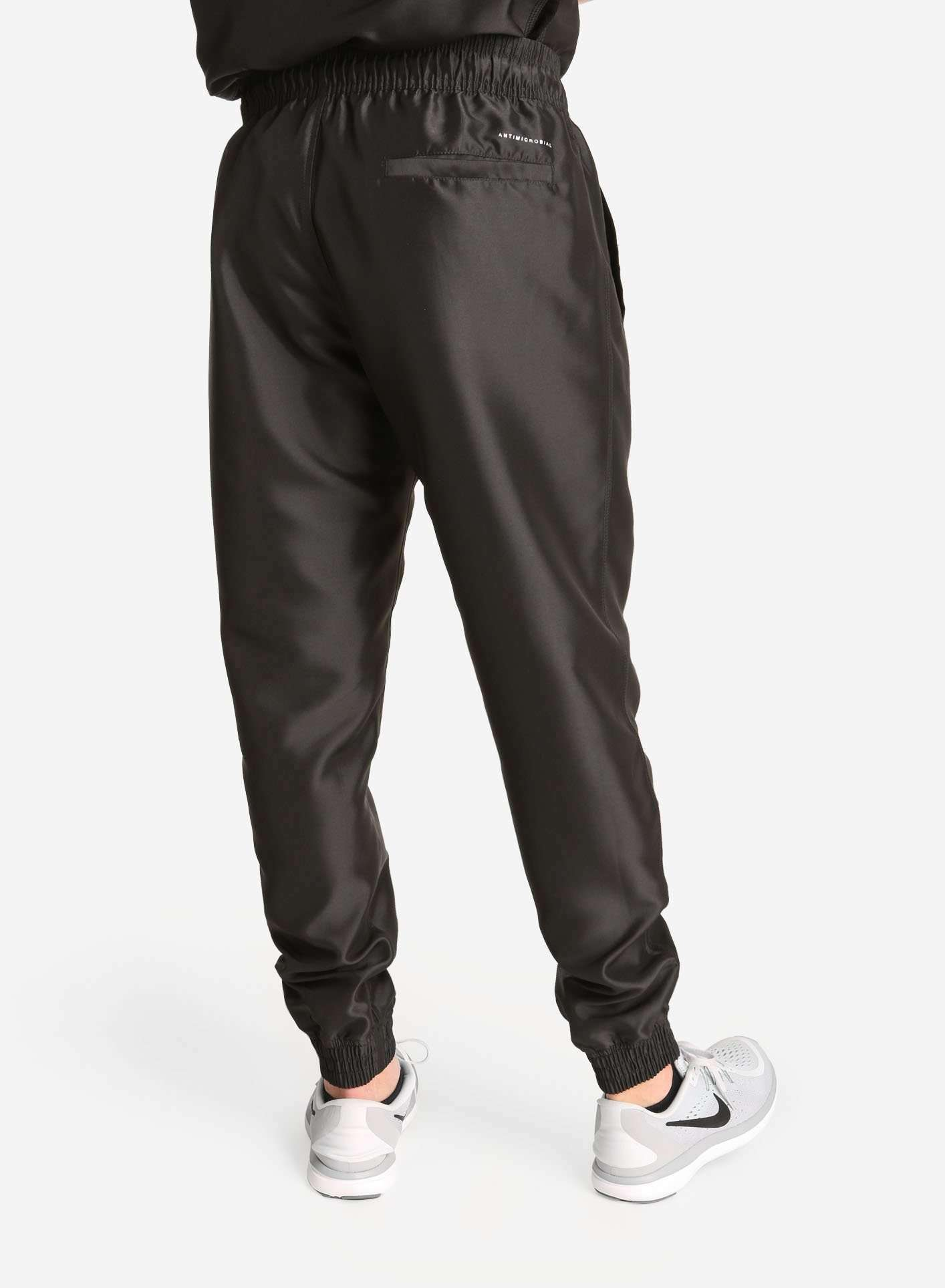 Men's Jogger Scrub Pants in Black Rear View