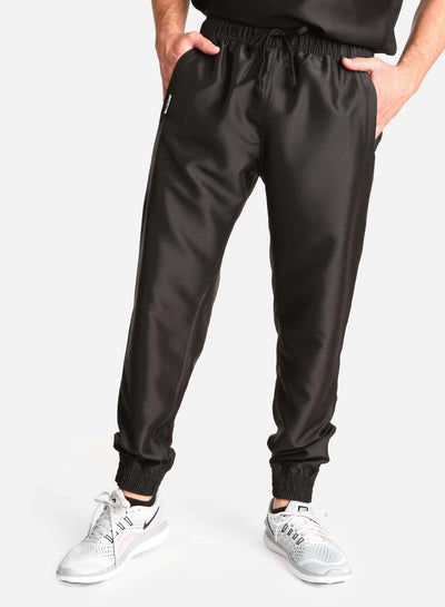 Men's Jogger Scrub Pants in black