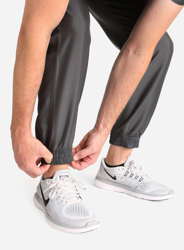 Men's Jogger Scrub Pants in Dark gray Ankle Cuff View