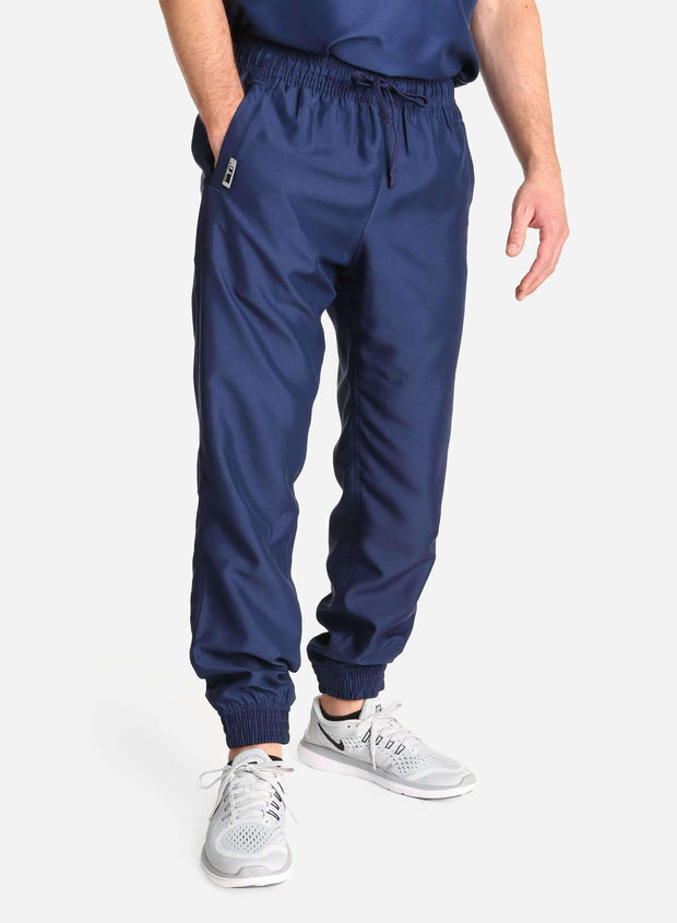 Men's Jogger Scrub Pants in navy-blue