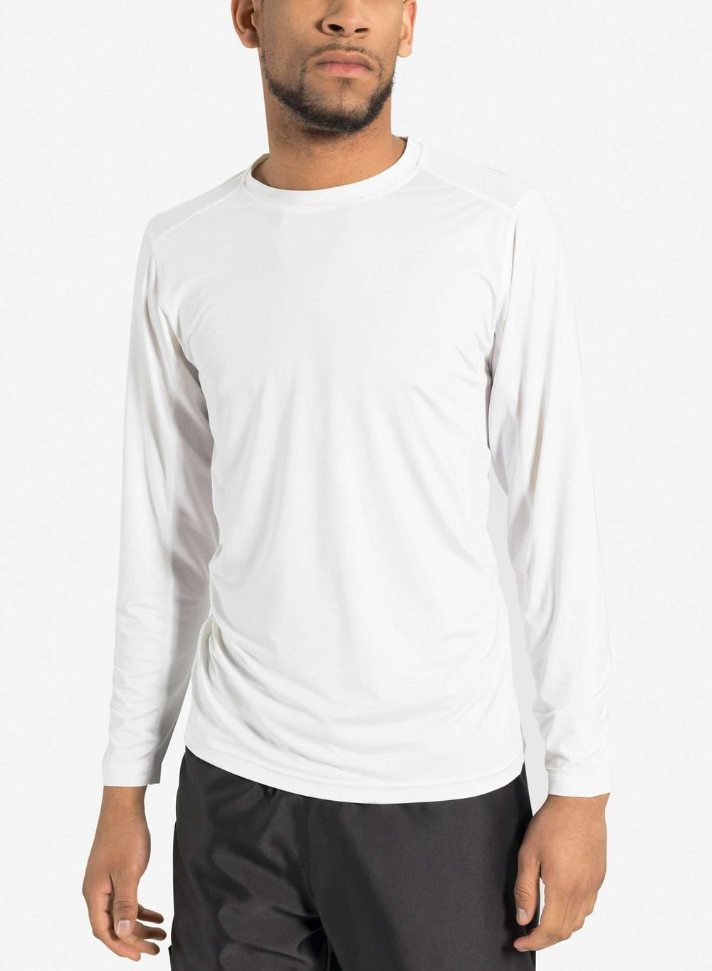 mens long sleeve underscrub white