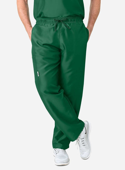 mens simple relaxed fit scrub pants dark green