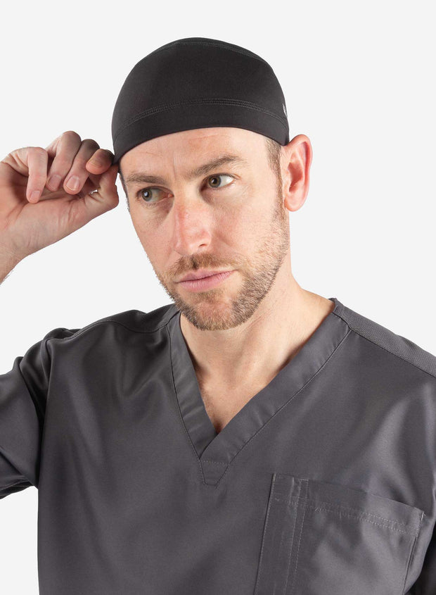 Men's scrub cap skull cap black