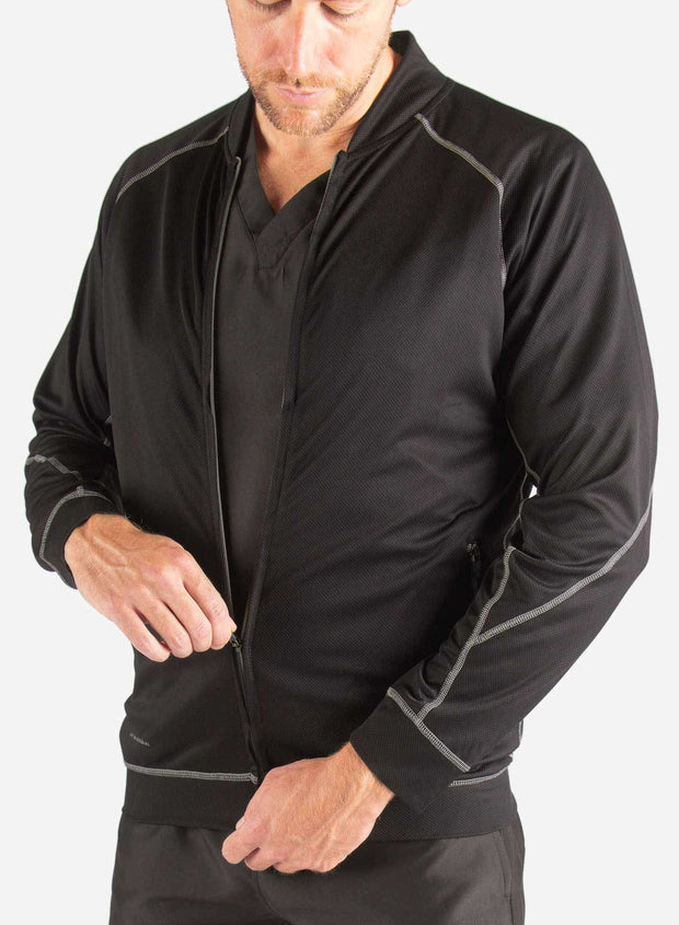 mens Elements scrub jacket black