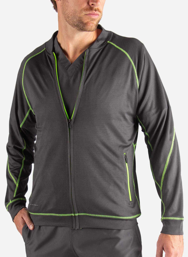 mens Elements scrub jacket dark gray