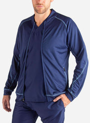 mens Elements scrub jacket navy-blue