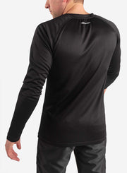 Men's long sleeve underscrub in black