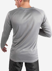 Men's long sleeve underscrub in gray