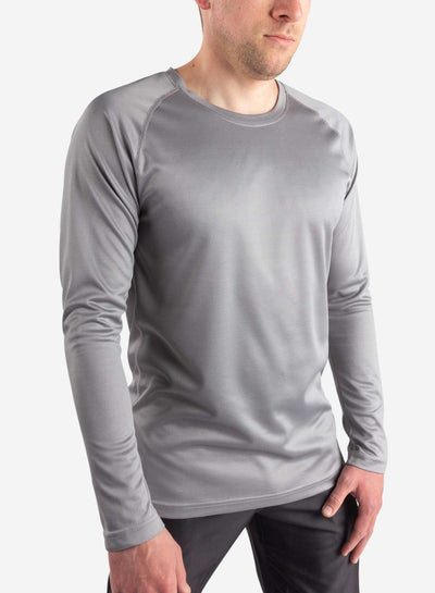 Men's long sleeve underscrub in grey