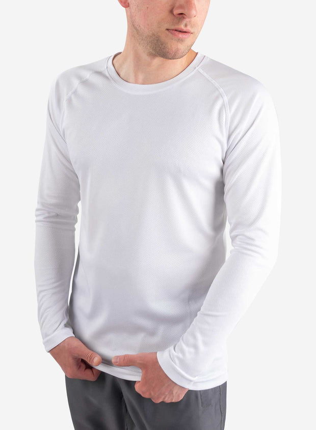 Men's long sleeve underscrub in white