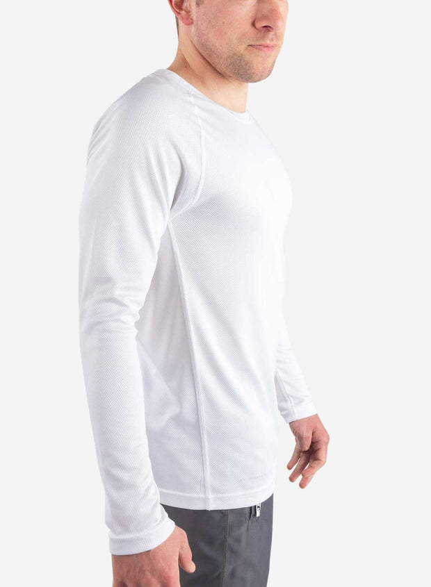 Men's long sleeve undershirt for scrubs in white
