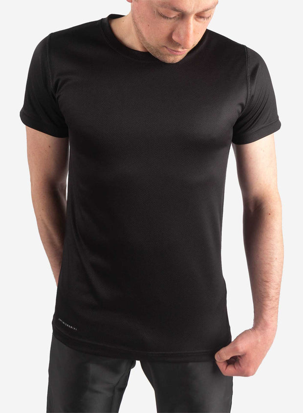 Men's black short sleeve underscrub black