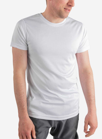 Men's white short sleeve underscrub