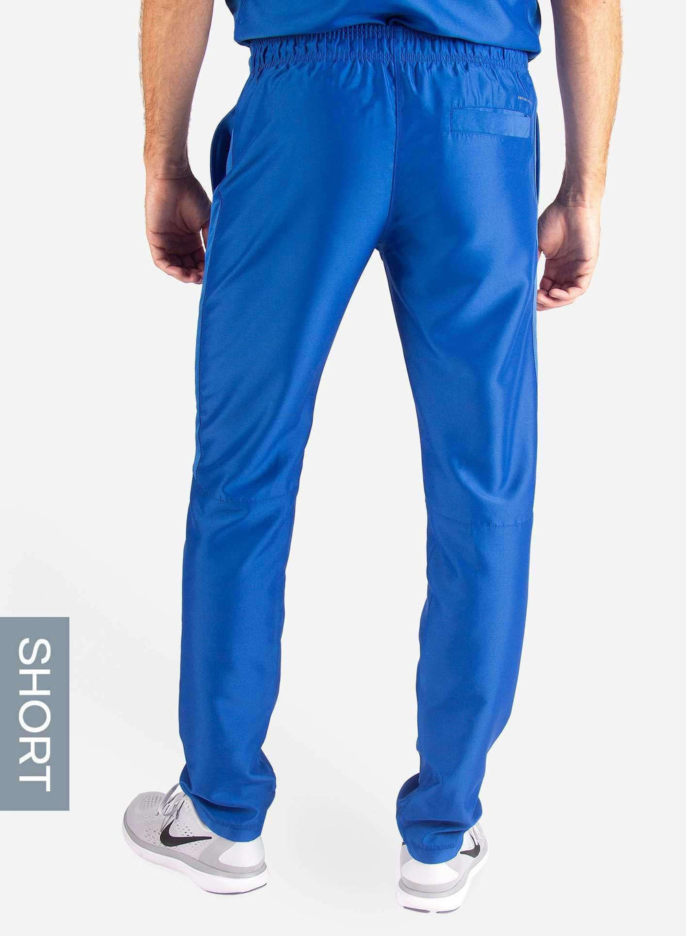 Men's Short Slim Fit Scrub Pants in Royal Blue back