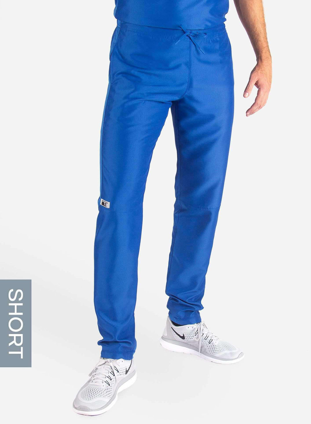 Men's Short Slim Fit Scrub Pants in Royal Blue