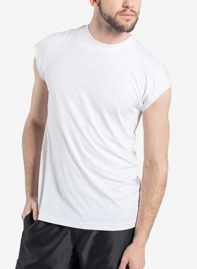mens short sleeve underscrub white