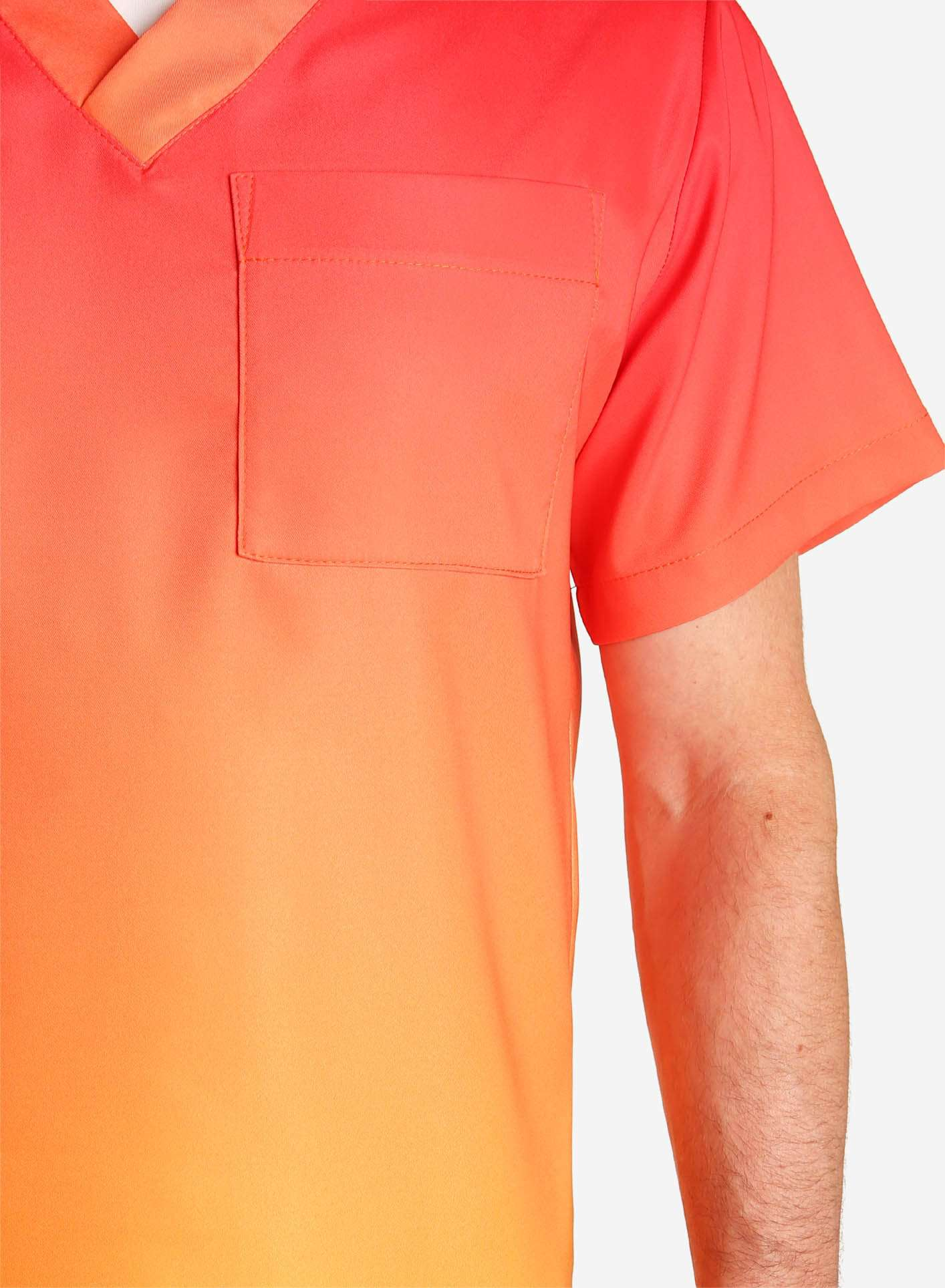 Men's V-Neck Scrub Top | Ombre