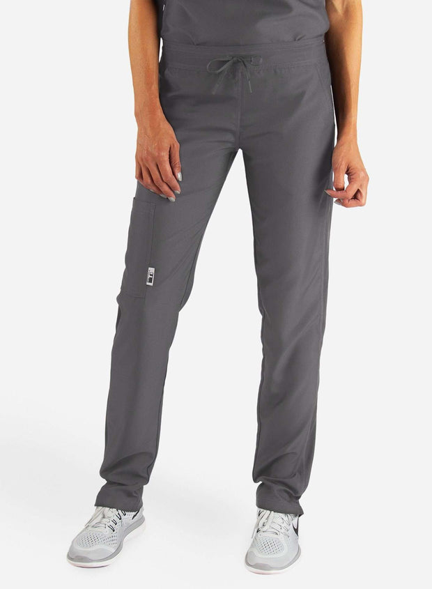 Women's Slim Fit Scrub Pants in Dark gray