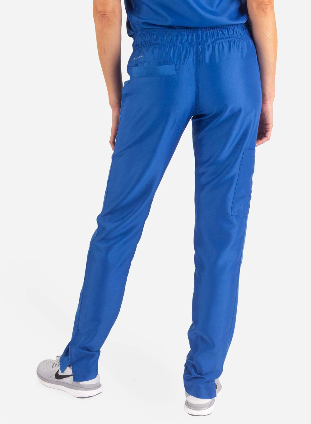 Women's Slim Fit Scrub Pants in Royal Blue back