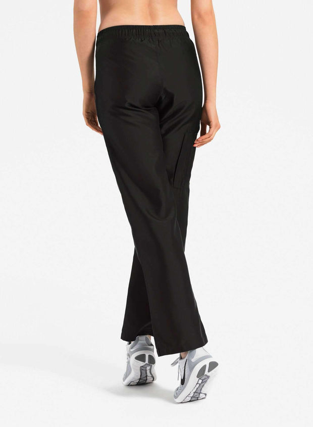 womens Elements cargo pocket straight leg scrub pants black