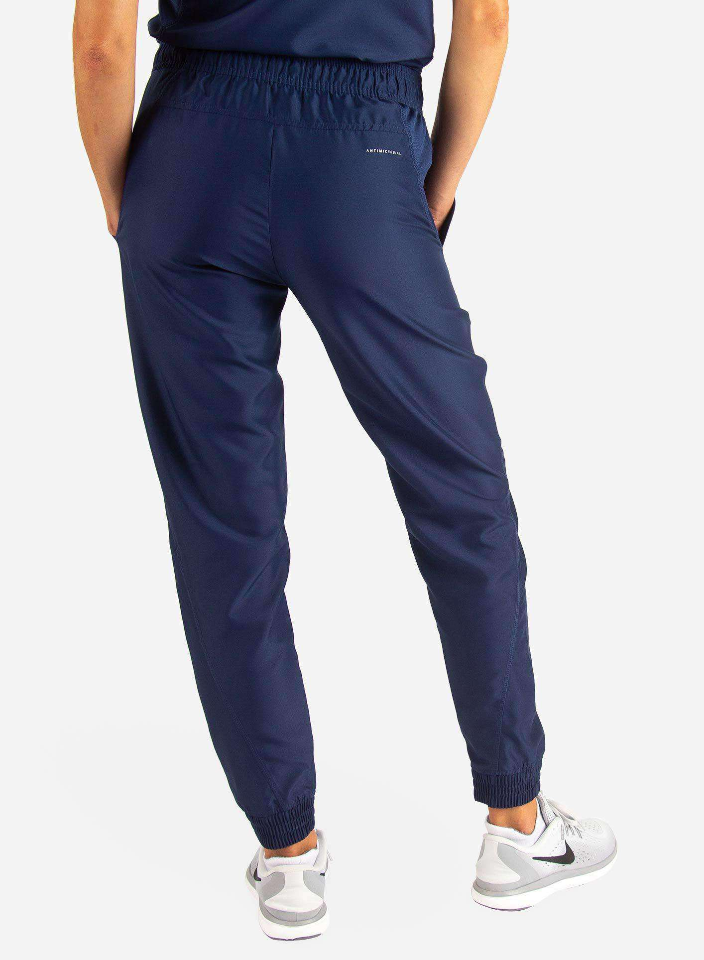 Women's Jogger Scrub Pants in Navy Rear View