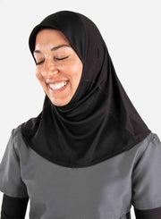 Medical hijab for doctors in black