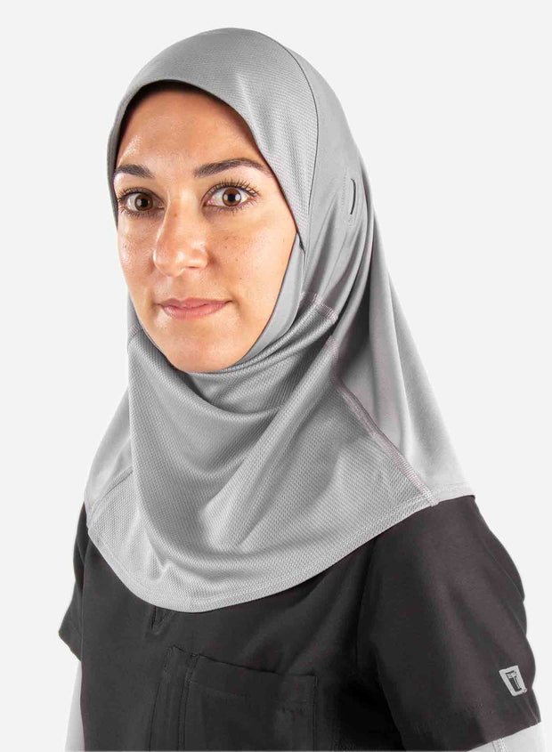 Medical hijab for doctors in gray