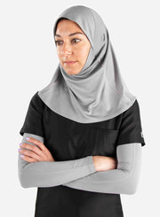 Women's medical hijab with athletic mesh