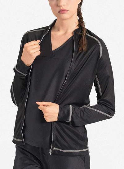 womens Elements scrub jacket black
