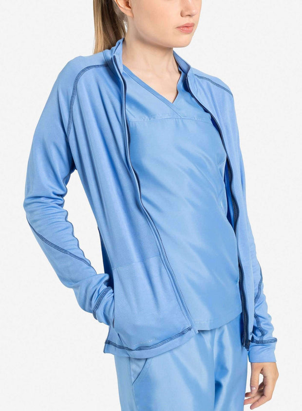 womens Elements scrub jacket ceil-blue