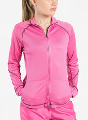 womens Elements scrub jacket pink