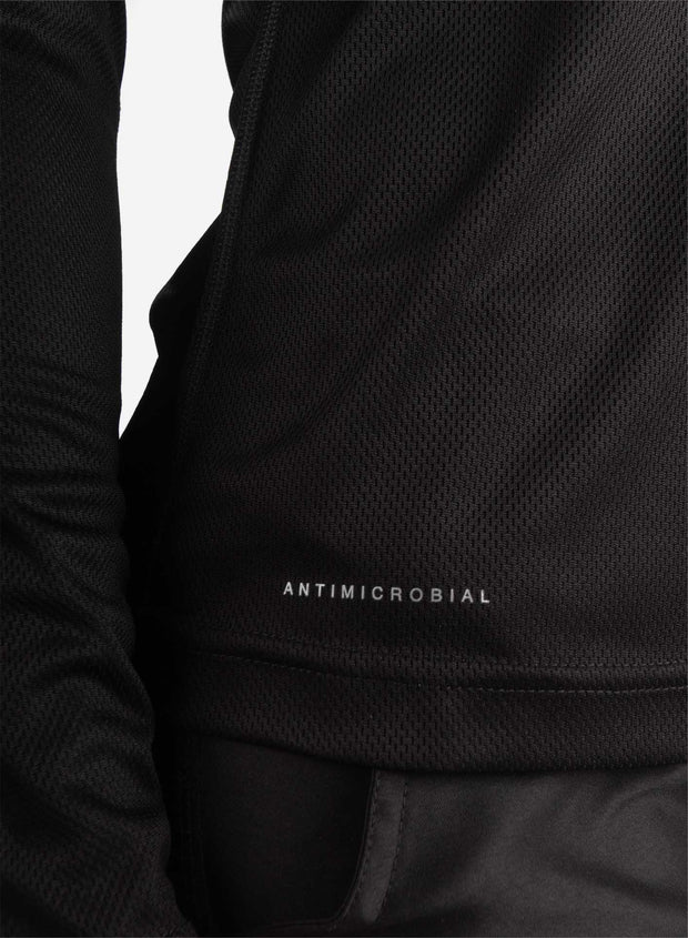 Women's long sleeve black underscrub antimicrobial