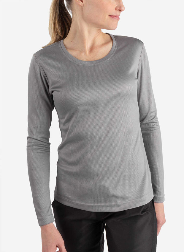 Women's long sleeve underscrub in gray