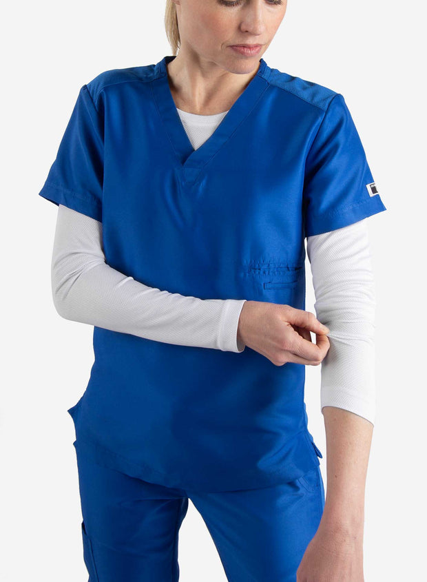 Women's long sleeve underscrub in white with scrub top